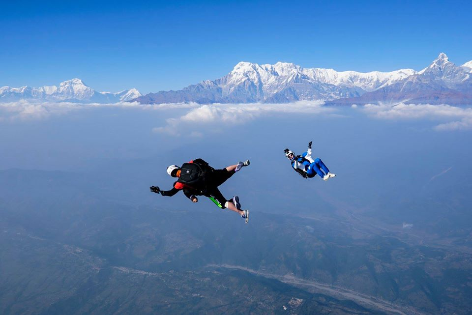 Sky Diving in pokhara