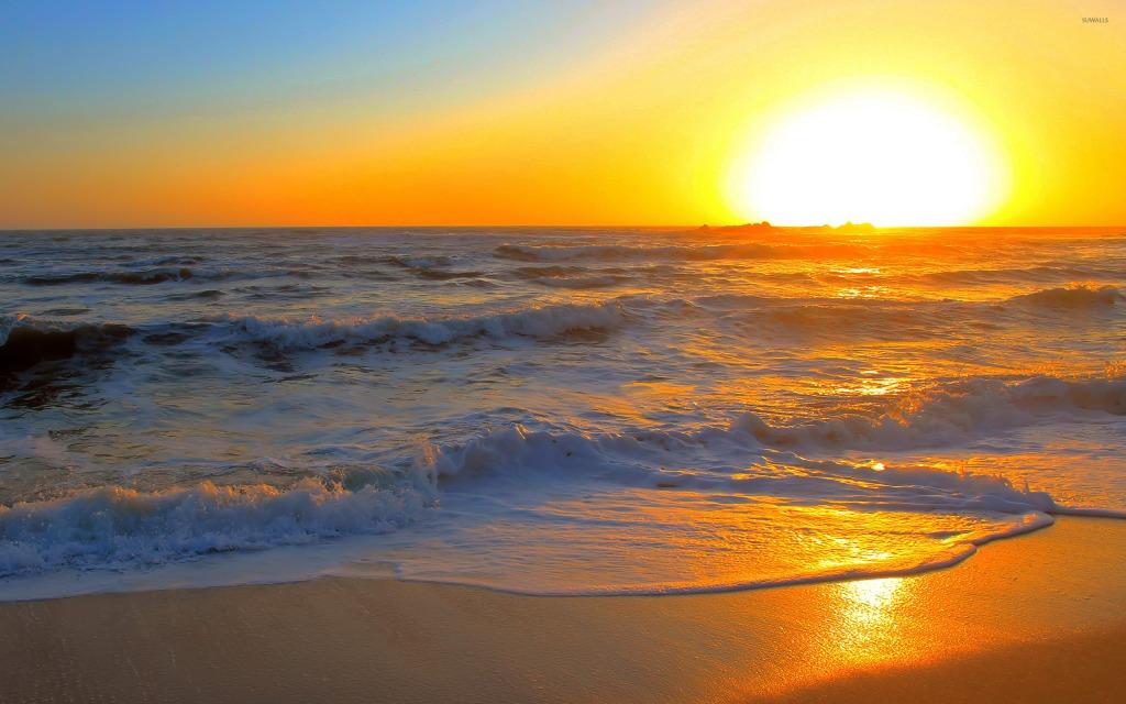 sunset ans sunrise at devka beach