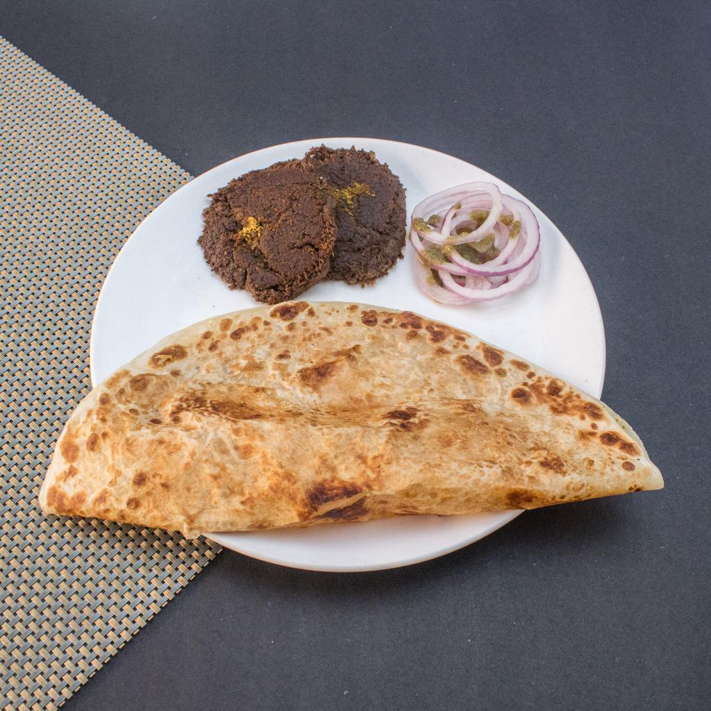 veg kebab paratha lucknow baba ka dhaba