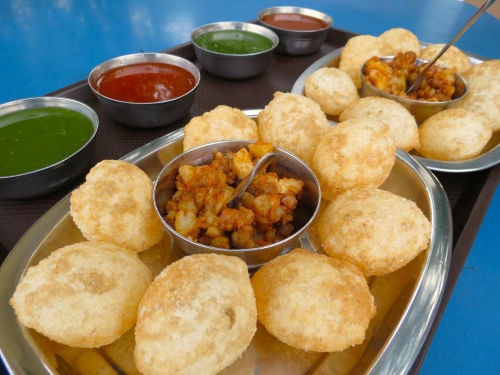 pani puri or golgappa at shukla chaat house