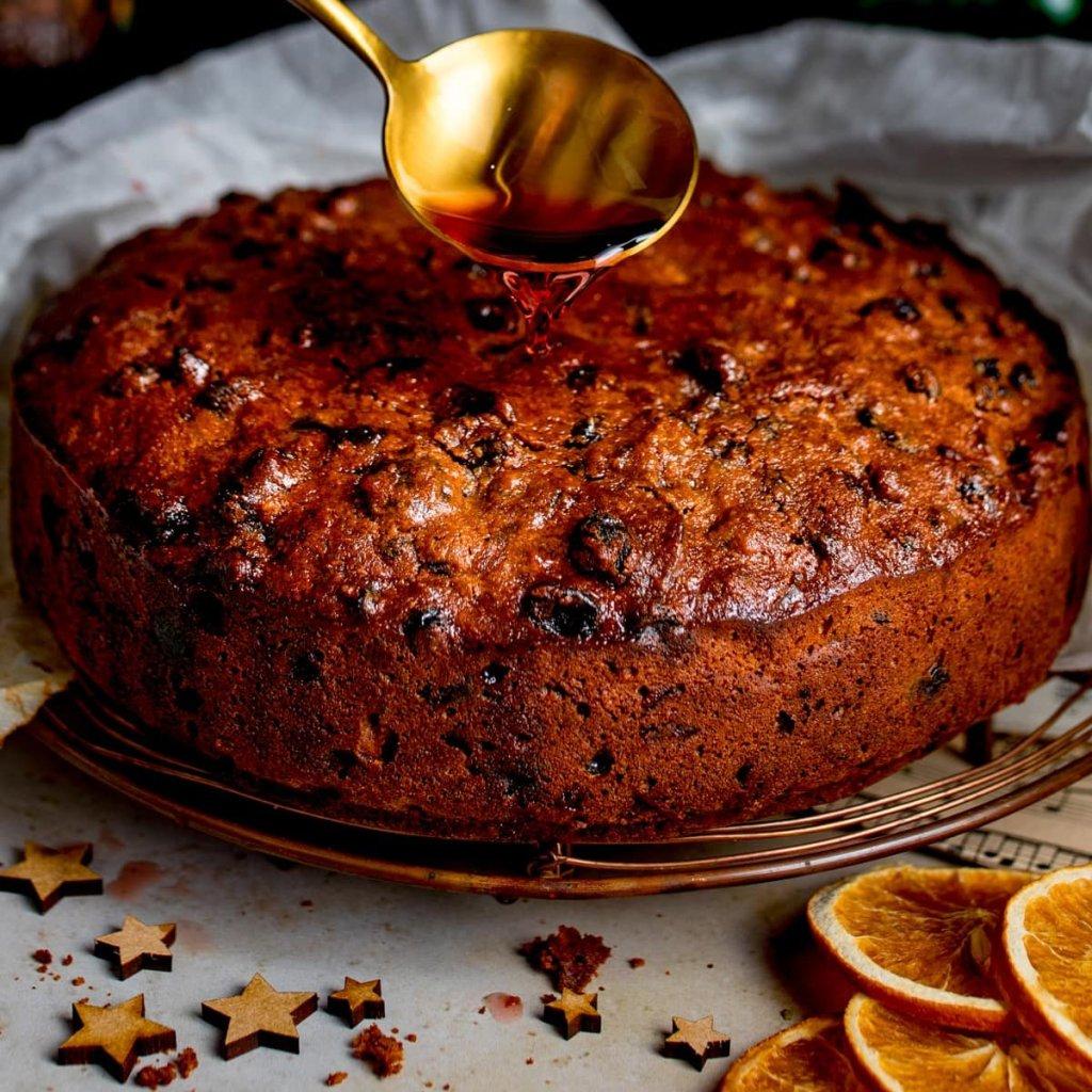 dry fruit Christmas plum cake recipe