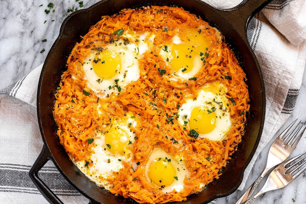 egg & sweet potato