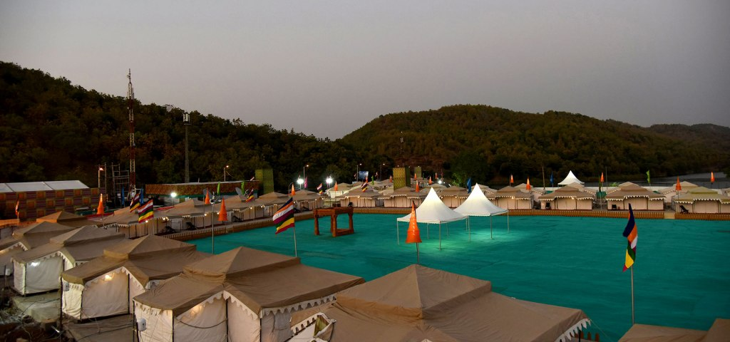 tent city narmada statue of unity