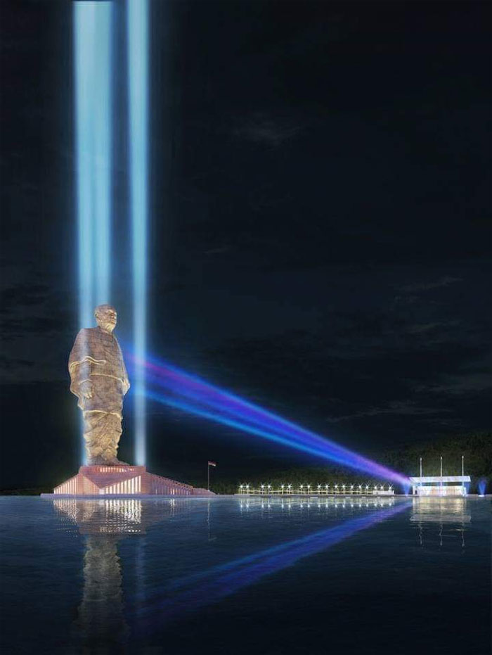 light and sound show statue of unity